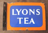 zz Lyons Tea - original vintage double-sided enamel advertising sign (SOLD)